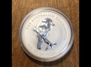 1 Dollar Australien 2005 Kookaburra PP. 1oz Silber .