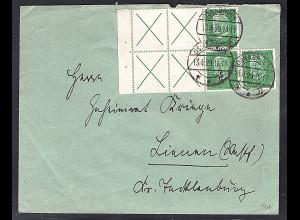 DR. Fernbrief mit MeF. Mi.-Nr. 2 x W 27.2 aus H-Blatt 57B