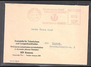 """DDR., Ortsbrief mit Popaganda-Freist. """"Unsere ganze Kraft dem Siebenjahrplan!"""""""