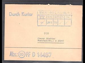 """DDR Vertrautliche Dienstbrief """"Durch Kurier"""""""