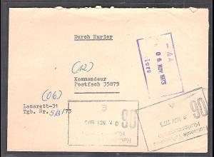"DDR NVA-Brief ""Durch Kurier"""