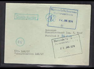 "DDR NVA-Brief ""Durch Kurier"""