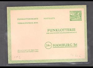 Berlin Funkloterie-Postkarte Mi.-Nr. FP 2 ungebraucht.