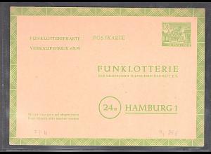 Berlin Funkloterie-Postkarte Mi.-Nr. FP 4 ungebraucht.
