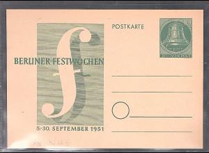 Berlin Ganzsache Mi.-Nr. P 26 ungebraucht.