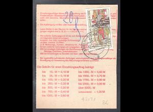 DDR.Einzahlungsauftrag mit EF. Mi.-Nr. 3031