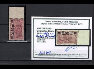 DR, Mi.-Nr. 118a mit durchgezähnte SR. postfrisch, KB WeinbuchBPP.