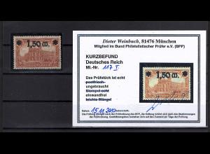 DR, Mi.-Nr. 117 I, postfrisch, KB WeinbuchBPP.