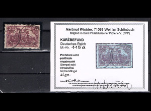 DR. Mi.-Nr. 115 d gestempelt, KB. WinklerBPP.