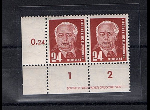 DDR. Mi.-Nr. 324vaXII DV1 postfrisch, Befund Mayer.