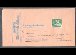 DR., EF. Mi.-Nr.738, auf Zeitungsdrucksache, mit Ak-St.