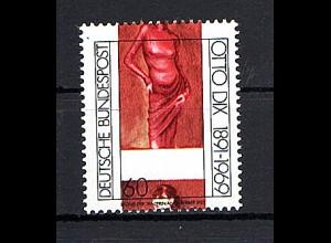 Bund, Geburtstag von Otto Dix, Mi.-Nr.1572 Passer-Verschiebung, postfrisch.