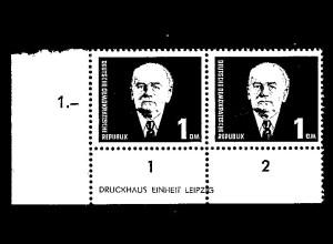DDR. Mi.-Nr. 342 aI XI DZ postfrisch, Sign. Mayer.