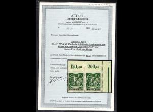 DR. Mi.-Nr. 137 II7!37 I OR. postfrisch, FA. WeinbuchBPP.