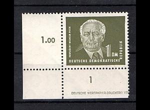 DDR. Mi.-Nr. 325 V XI DZ postfrisch, Sign. Mayer.